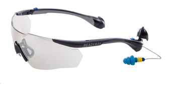 ReadyMax SoundShield Sport Style Safety Glasses with Ear Plugs - PermaPlug™ (NRR 25)