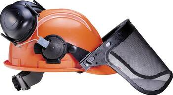 Tasco Woodsman Forestry System: Integrated Hard Hat, Ear Muffs and Wire Mesh Face Shield (NRR 24)