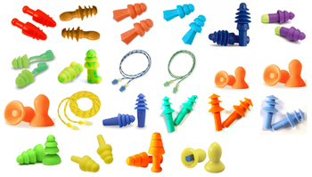 Reusable Industrial Ear Plug Trial Pack (23 Assorted Pairs)