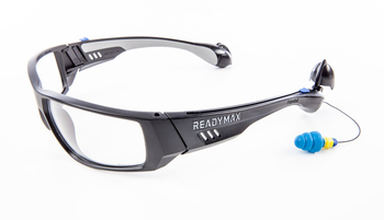 ReadyMax SoundShield Pro Series Safety Glasses with Ear Plugs - PermaPlug™ (NRR 27)