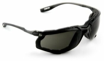 3M Virtua CCS Protective Eyewear 11873-00000-20 with Foam Gasket, Gray Anti-Fog Lens (Case of 20 Pairs)