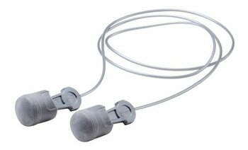 3M Pistonz P1401 NASCAR Piston-Shaped No-Roll Foam Ear Plugs - Corded (NRR 29) (Box of 100 Pairs)