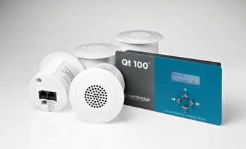 QT-100™ Control Module for up to 120 emitters (Includes Integrated External Audio Input for Background Music or Paging)