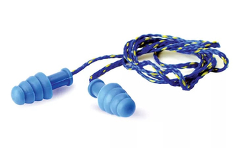 Walker's Contour Rubber Corded Ear Plugs Blue (NRR 27)