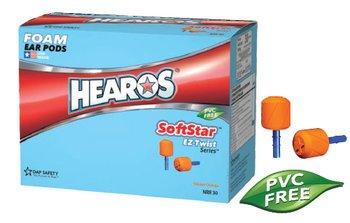 Hearos SoftStar EZ Twist Series 7312 UF No-Roll Foam Ear Plugs (NRR 30) (Box of 100 Pairs)
