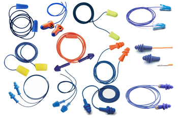 Metal Detectable Ear Plug Trial Pack (15 Assorted Pairs)