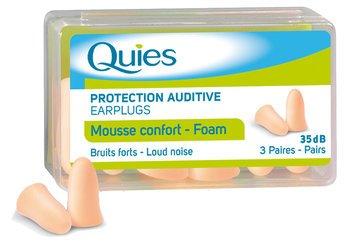 Quies Soft Foam Earplugs (3 Pairs)