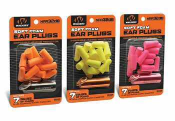 Walker's Game Ear 7 Pairs Foam Ear Plugs with Aluminum Carry Canister (NRR 32)