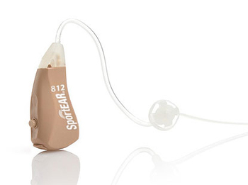 SportEAR MicroBlast 812 BTE Hunting Hearing Aid (One Pair w/Accessories)