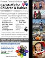 Flyer: Ear Muffs for Children and Babies (print ready)